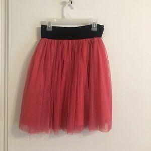 Pink ballerina inspired skirt